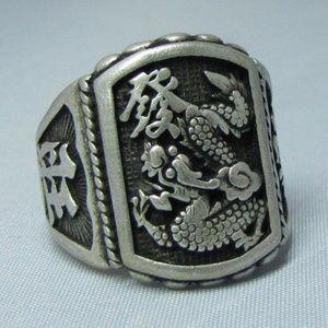 Jewelry - Men Gothic Punk Biker Finger Dragon Head Ring